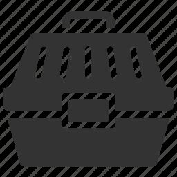 bag, cage, cart, pet box, pet carrier, tool box, tool kit icon