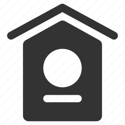 bird home, bird house, bird's nest, estate, home, house, nest icon