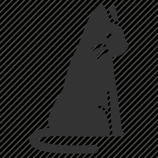 animal, cat, kitty, pet, sit, wait icon