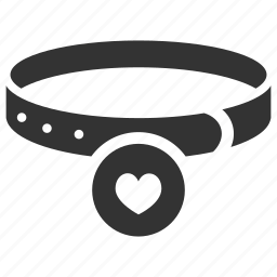 accessories, collar, dog collar, neckband, neckwear, owner icon