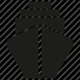 logistics, ship, shipping, transport, vessel icon