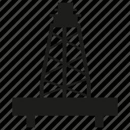industry, oil platform, petroleum, post icon