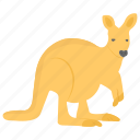 australian animal, kangaroo, pouched mammal, socceroos, wild animal icon