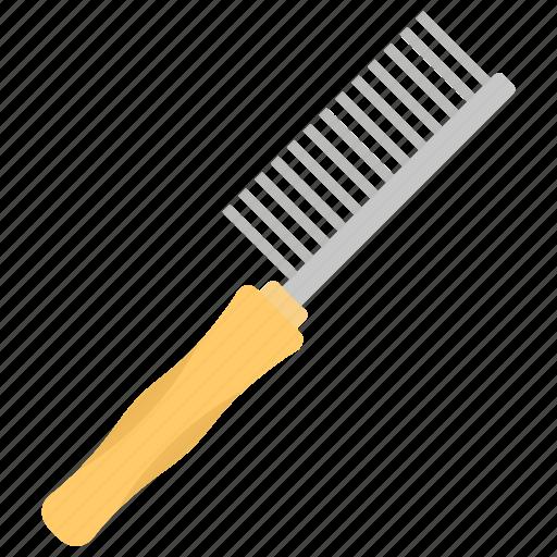 animal care, brush, pet comb, pet grooming, pet straighten icon