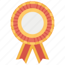 achievement, award, medal ribbon, reward, rosette ribbon icon