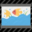 aquarium, aquatic museum, fish bowl, fish tank, marine exhibit icon