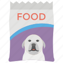 dog food, dog food pack, feeding, nutritious meal, pet food, pet supplement icon