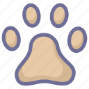animal, footmark, footprint, pet, pets, track icon