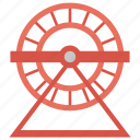 cogwheel, exercise, gnawer, hamster running, hamster wheel icon
