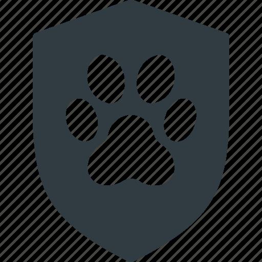 animal, pet, pets, police, protect, shield icon
