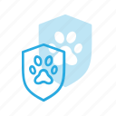 animal, pet, pets, police, protect, shield icon