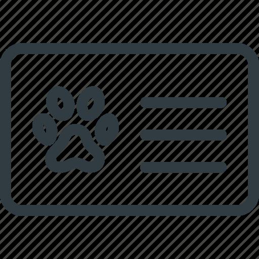 animal, cat, dog, id, pet, pets icon