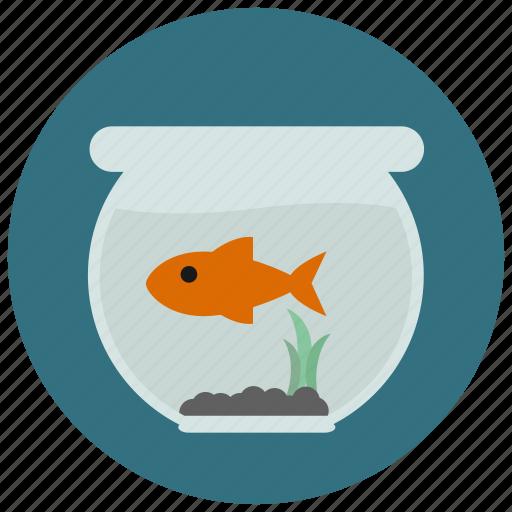 aquarium, fish, fish tank, goldfish, pet, pets icon