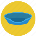 bowl, cat, litter box, litter pan, pet, pets, sandbox icon