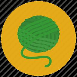 ball, cotton, pets, reel of wool, roll, wool, yarn icon