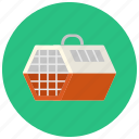 cage, carrier, cat, dog, pet, pets, transport box icon