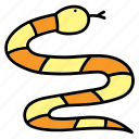 animal, aquatic, color, pet, sea, snake icon