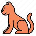 animal, cat, color, kitty, pet icon