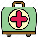 aid, box, care, first, health, kit, medical icon