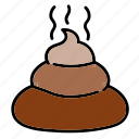 color, crap, cream, miscellaneous, poo, poop, shit icon