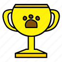 award, color, gold, number1, pet, prize, winning icon
