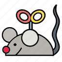 animal, color, mouse, pet, play, rat, toy icon