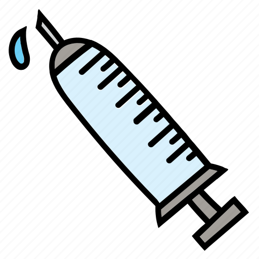 aid, color, first, hypodermic, needle, syringe, vaccine icon