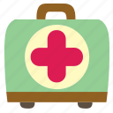 aid, box, first, health, hospital, kit, medical icon