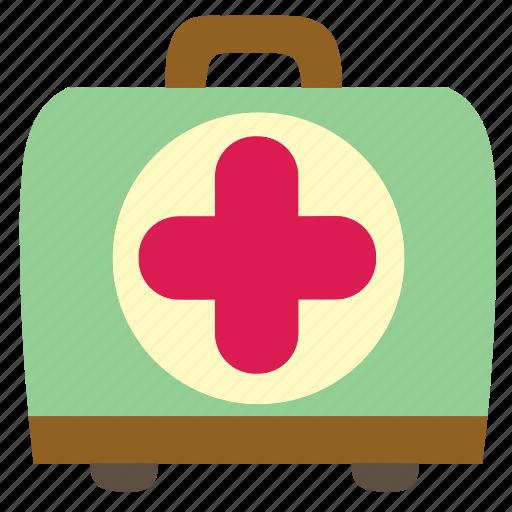 aid, box, first, health, hospital, kit, medical icon