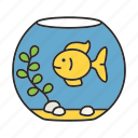 animal, aquarium, fish, fishbowl, fishkeeping, goldfish, pet icon