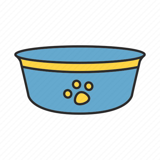 bowl, cat, dog, feed, food, pet, plate icon