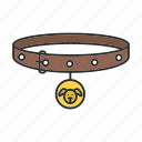 accessory, animal, collar, dog, dog-collar, pet icon