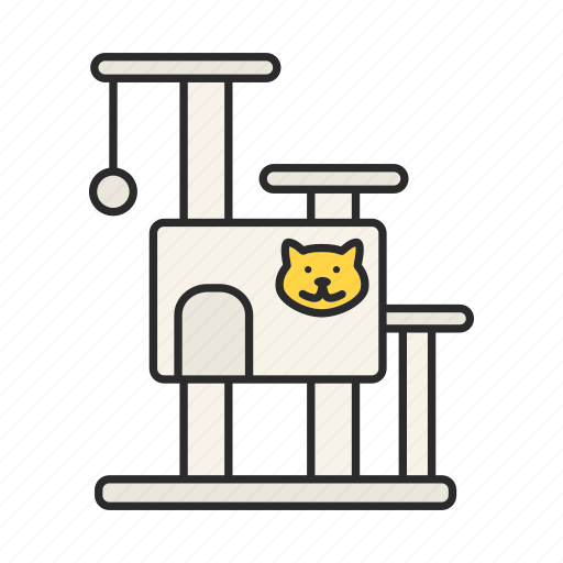 accessory, cat, cathouse, pet, play, scraching post icon