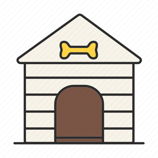 dog, dog-hole, doghouse, home, house, kennel, pet icon