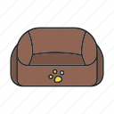 accessory, bed, cat, dog, pet, place, sleep icon