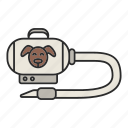 cleaner, cleaning, dog, fur, hoover, pet, vacuum icon