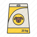 animal, dog, feed, food, meal, nutrition, pet icon