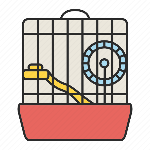 cage, hamster, house, mouse, pet, rodent, wheel icon