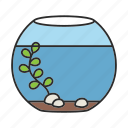 aquarium, fish, fishbowl, fishkeeping, goldfish, pet, tank icon