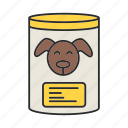 can, canned, dog, feed, food, meal, pet