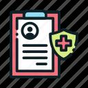 medical, note, pharmacy, recipe icon