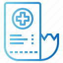 business, healthcare, invoice, receipt icon