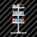drug, equipment, medicine, pharmacy, rack