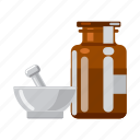 drug, equipment, medicine, mortar, pharmacist, pharmacy, preparation icon