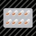 blister, drug, medicament, medicine, pharmacy, pill, tablet icon