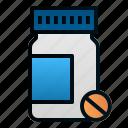bottle, health, hospital, medicine, pharmacy, pills icon