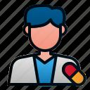 avatar, health, hospital, male, pharamacist, pharmacy icon