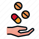 hand, health, hospital, medicine, pharmacy icon