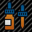 bottle, drops, ear, health, hospital, medicine, pharmacy icon