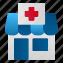 building, health, hospital, medicine, pharmacy, store icon